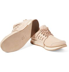 Each pair of Hender Scheme sneakers is based on an iconic footwear style and rendered in natural leather for a luxurious upgrade. This 'MIP-12' style has been made in Japan from premium materials, elevating it to something a little more unique. Let the soft hue take focus by wearing them with darker shades.