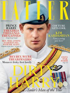 Great pic. Great colours. Great cover line... Tatler