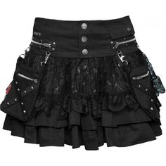 Gothic clothing: 2-in-1 women's skirt by Queen of Darkness ($5.06) ❤ liked on Polyvore