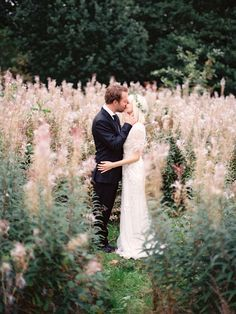 I feel like getting wedding pictures in a field is a must...