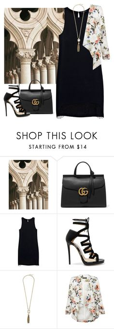 """My Trip to Italy- Sight Seeing & Date"" by guest114 ❤ liked on Polyvore featuring WALL, Gucci, Justicia Ruano, Jimmy Choo, Cole Haan and New Look"