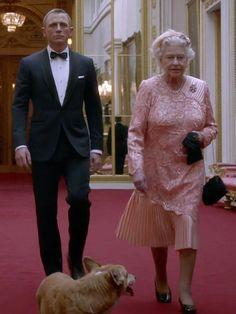 James Bond with Queen Elizabeth what a legend our queenie is!