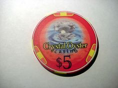 Crystal Oyster Casino Chip