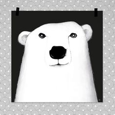 POLAR BEAR 50x50cm på Nordic Design Collective