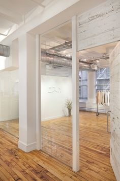 All reclaimed material in NYC office/showroom of EDUN; Spacesmith