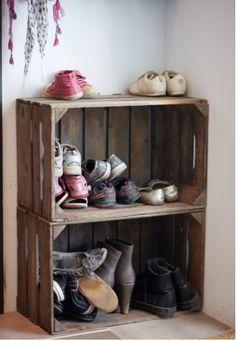 Meuble chaussures palette pinterest - Fabriquer un meuble a chaussure en bois ...