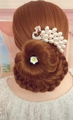 Formal Hairstyles For Long Hair, Fancy Hairstyles, Wedding Hairstyles, Chignon Hair, Braided Hairstyles Updo, Wedding Hair Pins, Bridal Hair Accessories, Wedding Jewelry, Hair Vine