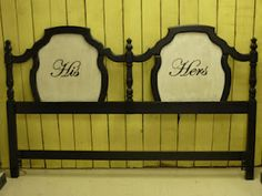 """""""His"""" and """"Hers"""" King Headboard"""