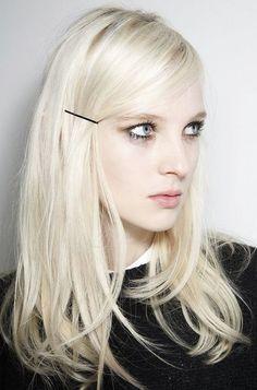 Bleached blonde locks.