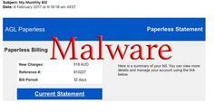 """AGL """"My Monthly Bill"""" Malware Email #malware #AGL"""