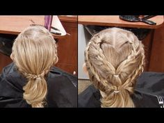 How to French Braid in a Heart // Cute little girls Hairstyles // tutorials - YouTube