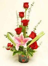 """Résultat de recherche d'images pour """"arreglos florales unitarios con rosas rojas flor VTV CTales con rosas"""""""