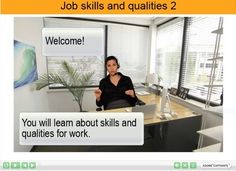 This resource has 51 slides taking learners through 7 activities that develop vocabulary and grammar for describing their skills and qualities. It focuses on adjectives, action verbs and complex sentences. It also looks at how to read a job advertisement.Activities include References to a glossary Listing adjectives Categorising different sets of skills Prompts for learners to think about their own skills and qualities Guided interactive reading of complex sentences Explanations of complex…