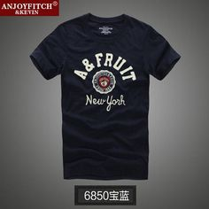 Men Summer Designer Fashion Anjoy&Fitch Brand Casual T-shirt