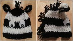 Loom Knit Zebra Hat Pattern -- so cute but have to buy pattern