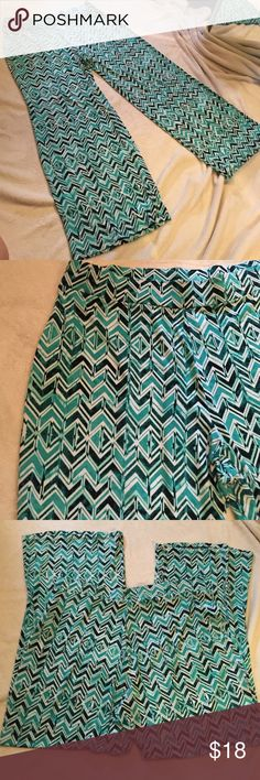 Palazzo pants Silky feel, stretchy polyester/spandex palazzo pants. Size xl but fit like 16-18 Jm collection Pants Wide Leg
