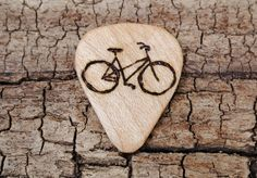 Cool Guitar Picks, Simple Rules, Vintage Guitars, Pyrography, Music Instruments, Etsy Shop, Wood Burning, Woodworking, Bike