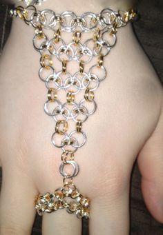 Link slave Bracelet Slave Bracelet, Chainmaille Bracelet, Hand Bracelet, Link Bracelets, Jewelry Bracelets, Jewelery, Beaded Jewelry, Handmade Jewelry, Hand Wrist