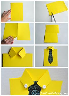 Great tutorial and video on this site! It's a sweet Father's Day card guaranteed to delight Dad. perfect fathers day gift, gifts to grandpa, fathers day presents from daughter Diy Father's Day Gifts, Father's Day Diy, Gifts For Dad, Craft Gifts, Kids Crafts, Arts And Crafts, Paper Crafts, Kids Diy, Easy Crafts