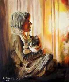 Catawiki online auction house: Cecylia Dąbrowska (21e Century) - Meditation