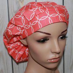 Metro Living,Bouffant Women's Scrub Hat, Surgical Scrub Hat, OR Nurses Scrub Hat, Scrub Cap