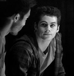 Teen Wolf ... Tyler Hoechlin and Dylan O'Brien as Derek and Stiles
