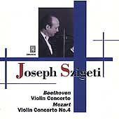 Joseph Szigeti Beethoven: Violin Concerto; Mozart: Violin Concerto No. 4 2002 CD #Concerto