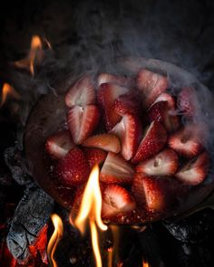 """2,583 Likes, 145 Comments - aimee twigger (@twiggstudios) on Instagram: """"Fire roasted strawberries  a sweet and smoky taste perfect on your pancakes. I had a wood fire the…"""""""