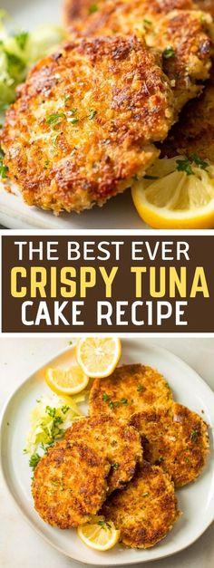 Tuna Fish Cakes, Tuna Fish Recipes, Fish Cakes Recipe, Tuna Cakes Easy, Recipes Using Fish, Chicken Recipes, Salmon Cakes, Fish Dishes, Seafood Dishes