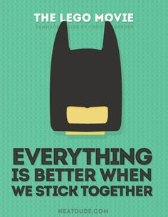 Everything is Awesome - Chris Melberger - Graphic Designer - Gift ideas - Lego Lego Batman Quotes, Lego Movie Quotes, Movie Posters, Lego Movie Party, Lego Classroom Theme, Superhero Classroom, Lego Film, Fan Poster, Movie Themes