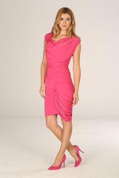 Honor Gold Alexia Pink Asymmetrical Dress