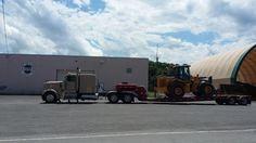 Hamilton, NY Town Garage. Deere 624K loader headed to Merrimack, NH to it's new owner. 7-9-2016. Iron Mountain, Heavy Equipment, New England, Hamilton, Garage, Carport Garage, Garages, Car Garage, Carriage House