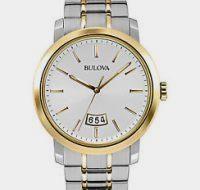 Bulova Men's Analog Display Japanese Quartz Two Tone Watch $87.50 reg. $350.00 http://wp.me/p3bv3h-8FG
