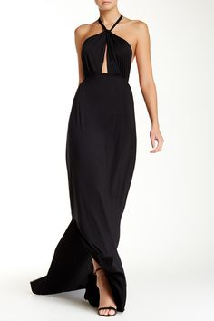 Beautiful Black Rachel Pally Maxi Dress. Perfect for a summer wedding or cocktail party.