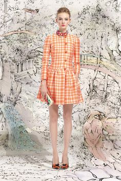 Retro Chic. Red Valentino Spring 2013 Ready to Wear Collection.