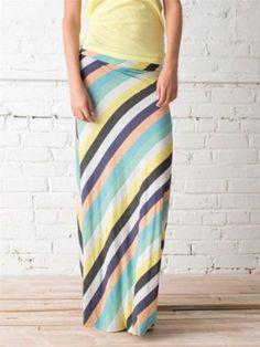 diagonal stripe maxi skirt. love.