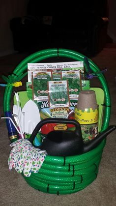 Garden Basket Ideas find this pin and more on gift baskets Water Hose Garden Basket