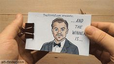 Leonardo DiCaprio Oscar Winning Flipbook Animation | Gif Finder – Find and Share funny animated gifs