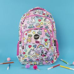 1b659861dc35 Fringoo Unique School Accessories · Girls · Unicorn kids back pack.  Multi-compartment