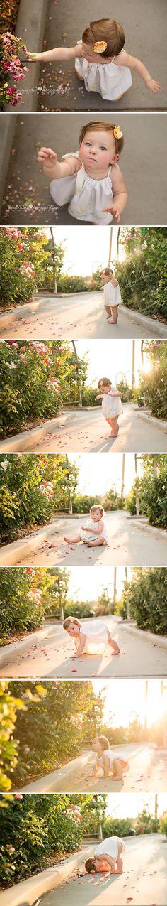 One year Baby Girl Photos  | Garden | Pillow Case Dress
