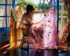 Pastel sobre lienzo obra del pintor español contemporáneo Vicente Romero Redondo