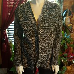 Forever 21 Sweater Black with grey cardigan sweater Forever 21 Sweaters Cardigans
