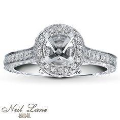 Kay Jewelers Diamond Ring Setting 1 ct tw Round-cut 14K White Gold- Kay Design-A-Ring™