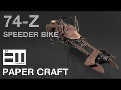 undefined Printer, Bike, Starwars, Youtube, How To Make, Miniature, Crafts, Bicycle, Manualidades