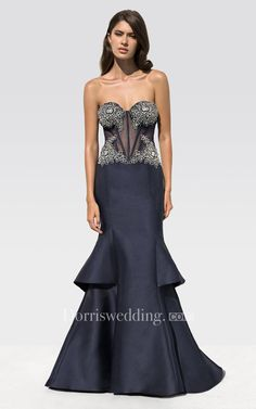 #Dorris Wedding - #Dorris Wedding Mermaid Floor-Length Sweetheart Sleeveless Satin Beading Tiers Backless Dress - AdoreWe.com