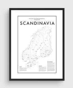 Scandinavia Map Poster THE QUALITY This is a HIGH QUALITY print as an UltraChrome Epson K3© Ink Technology and the finest Enhanced Matte Photo Paper