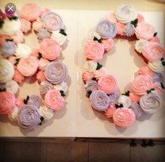 80th birthday pull apart cupcakes