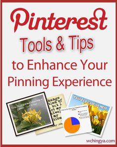 26+ #Pinterest Tools and Tips to Enhance Your Pinning Experience (must-read for all pinners).