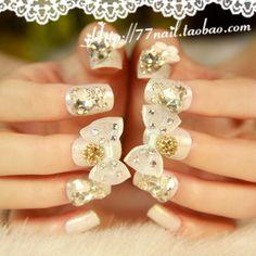 Aliexpress.com : Buy Elegant white square  bride nail art false nail patch 24 on Jessie's shop. $15.48