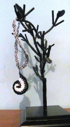 Crochet Spiral Necklace